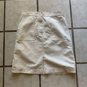 J. Crew size 6 cream color cotton skirt EUC